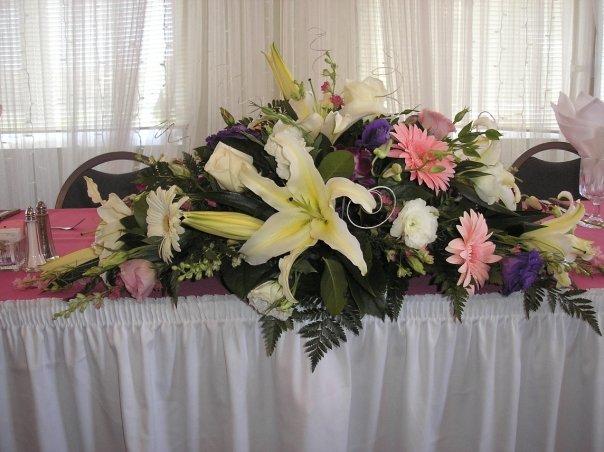Bernardo 39 s flowers sweet 16 centerpieces for Flower arrangements for sweet 16