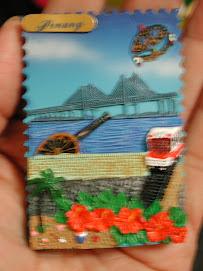 20090417D馬來西亞曉薇夫妻送的記事磁鐵