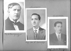 EAVM -1962. Album. Professores homenageados. Retratos. Quadro de Formatura