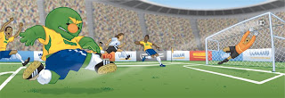 Danny Moore Illustration Wally Red Sox Soccer Brazil Goal
