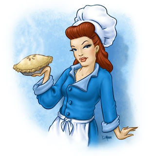 Danny Moore Illustration Chef Lady Pie Woman