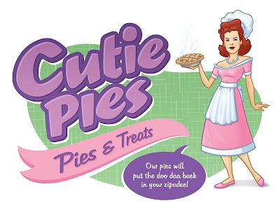 Danny Moore Illustration Cutie Pies Pie Chef Lady Mom