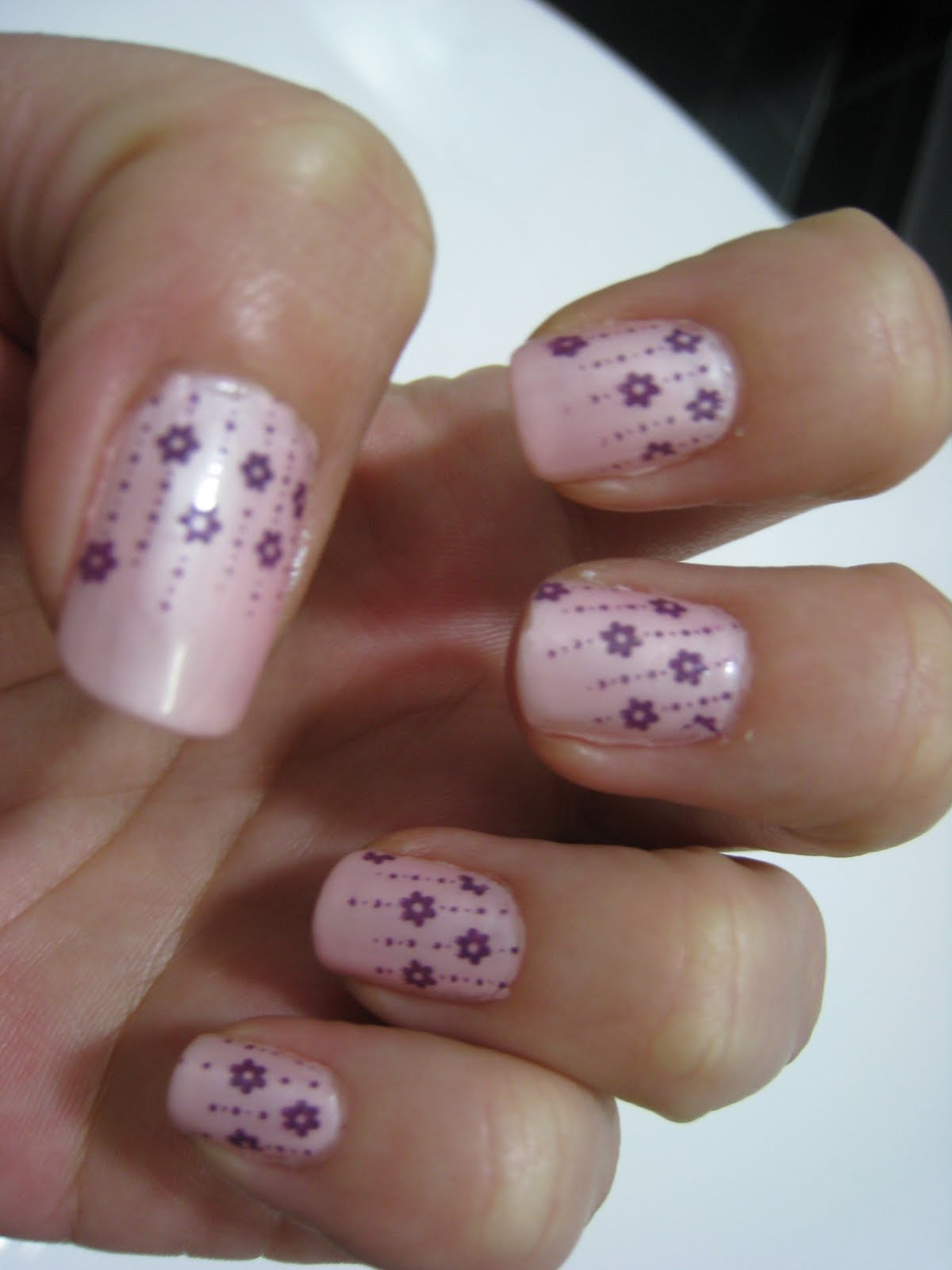 this set of nails was done with konad plate m69 konad special polish ...
