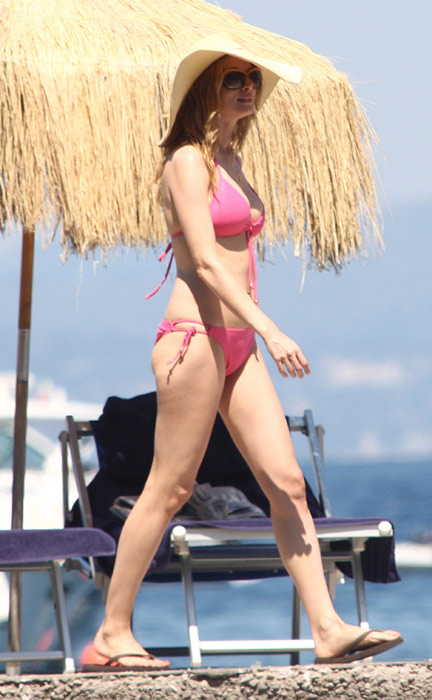 Heather Graham turned 40 this past January. She was photographed in a bikini ...