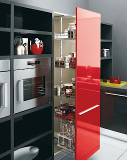 Modern Kitchen Color Schemes Modern Kitchen Cabinet Black White Red Color