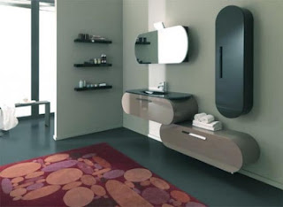 Contemporary Bathroom Furniture Natural Light Situation Flux