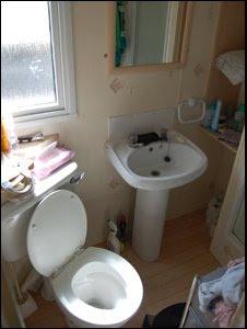 Caravan bathroom. The caravans