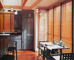 Wooden blind window treatments