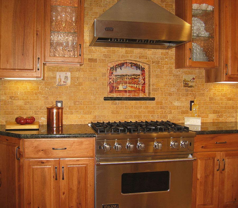 Green Kitchen Backsplash Tile