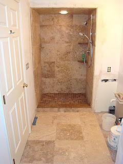 Tiled Showers Pictures New Stone Tile Shower/Floor