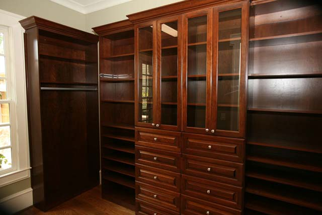 Master Closets Master Closet. Complete built-ins. Approximately 32 feet of clothing racks