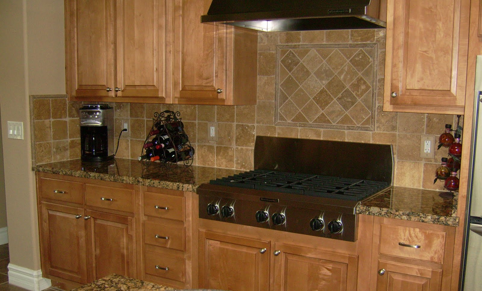 Pictures Kitchen Backsplash Ideas  6x6 Tumbled Stone Kitchen Backsplash $699