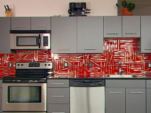 embed your favorite household objects in a backsplash