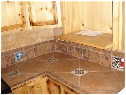 Tile Countertops Pictures Inlaid Tile Countertop Handmade Wagon Wheel Lighting