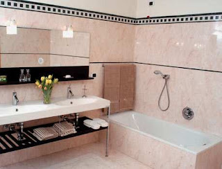 Pictures of Bathrooms The master bathroom is large and very beautiful with both bathtub
