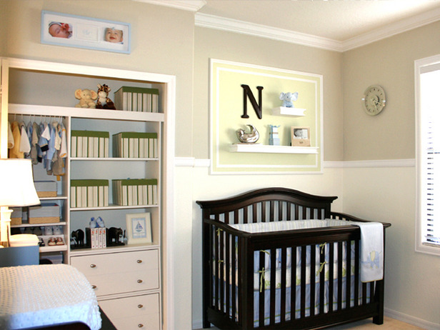 Baby Boy Room Paint This mom created a stunning contrast with paint and furniture