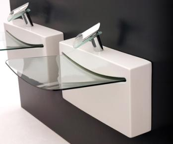 Bathroom Sinks Design Of course, you'll pay for that snazzy space age design. The glass
