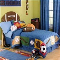 Boys Sports Room Decorating a boys room in a sports