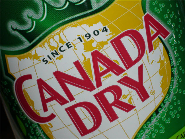 Map Drink = Canada Dry Ginger Ale