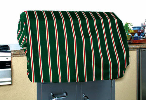 Green Stripes Grill Cover