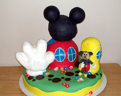 Mickey Mouse Clubhouse cake - Lemon cake, the hand, foot and head are all