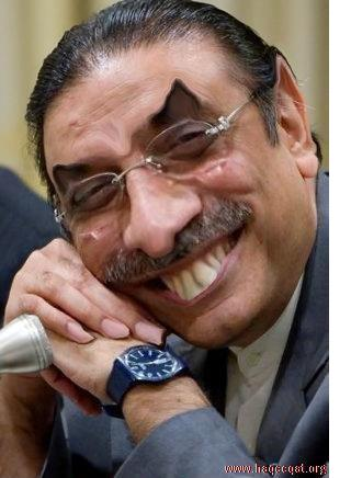Asif Zardari long teeth