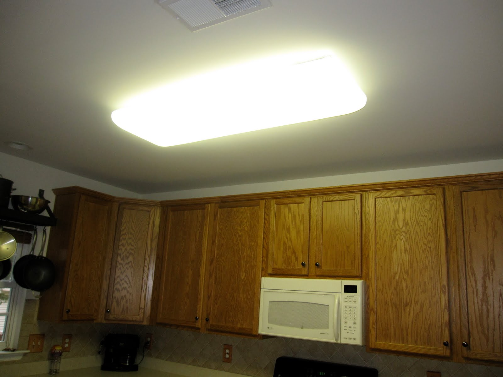 Before The Bulky Fluorescent Light Fixture Looked Like It Was Meant
