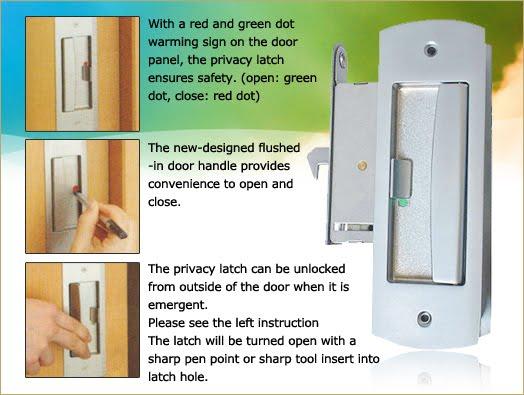 Lock The Door With An Artistic Functional Mixture Door Privacy Latch