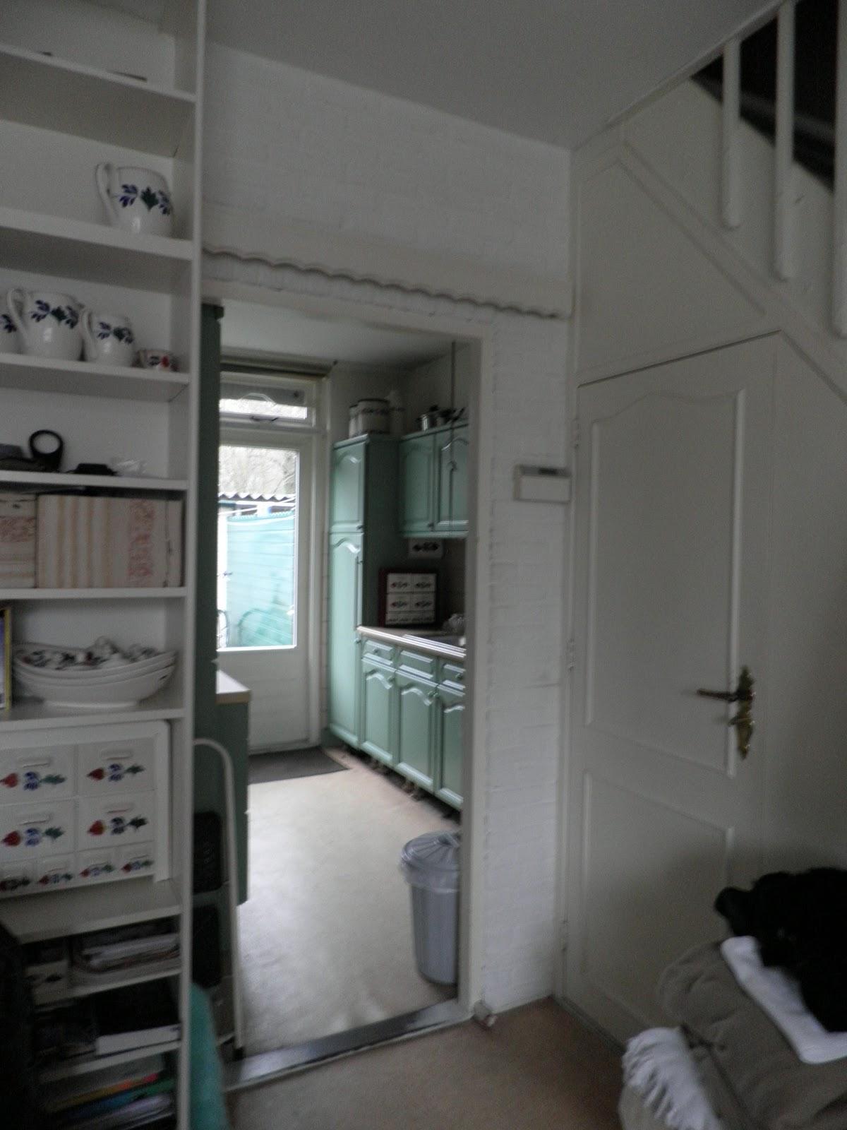 Bolusjes huis en honden oude keuken afbreken