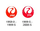 JAL Old vs New logos