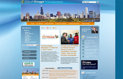 City of Chicago website front page