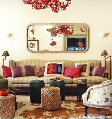 The glam lamb boho glam o rific for Bohemian chic living room makeover