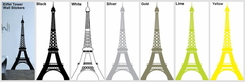 wallpaper stickers. The Eiffel Tower Wall Sticker.
