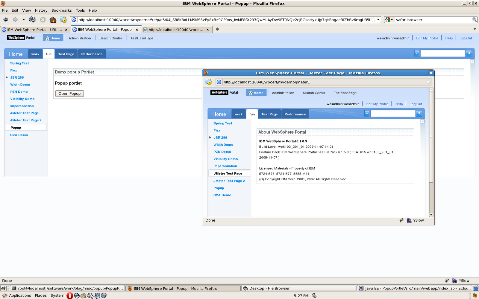 Sunil 39 s notes how to open a portal page in dialog box for H portal