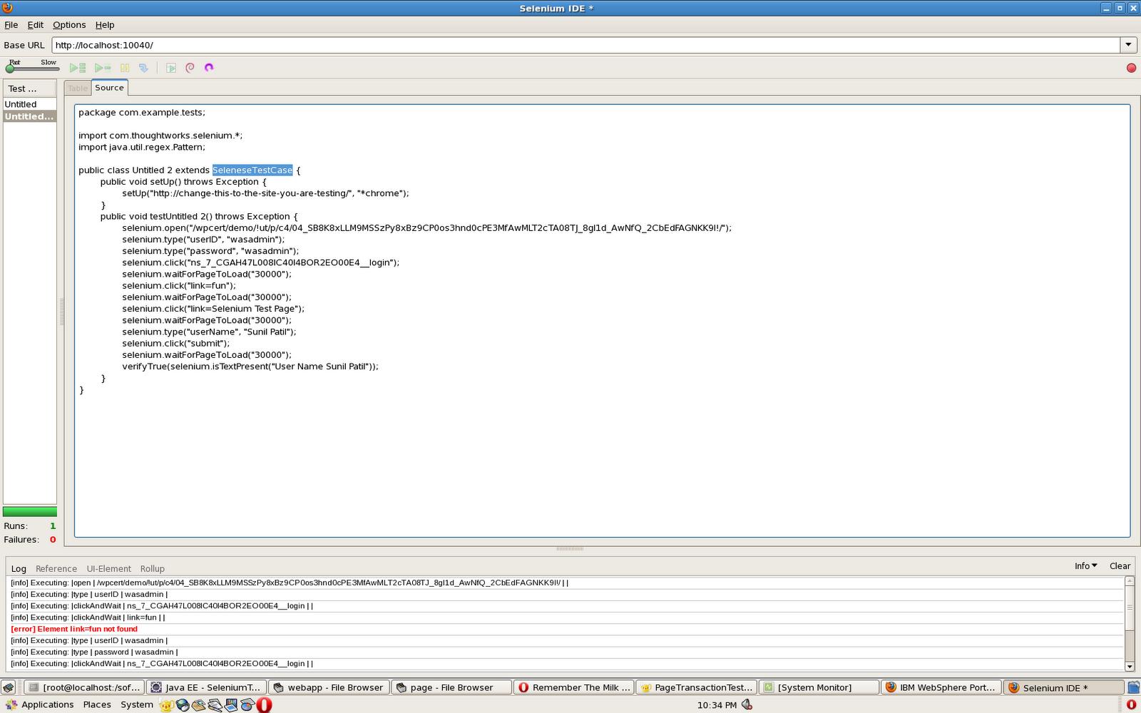 Sunil S Notes Using Selenium For Testing Portlets