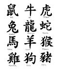 chinese font art zodiac tattoo. Black Bedroom Furniture Sets. Home Design Ideas