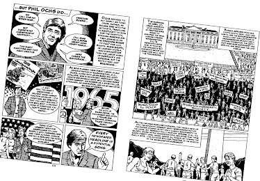 Phil Ochs is recalled in &#39;SDS: A GRAPHIC HISTORY&#39; (Harvey Pekar/Paul Buhle, 2007)