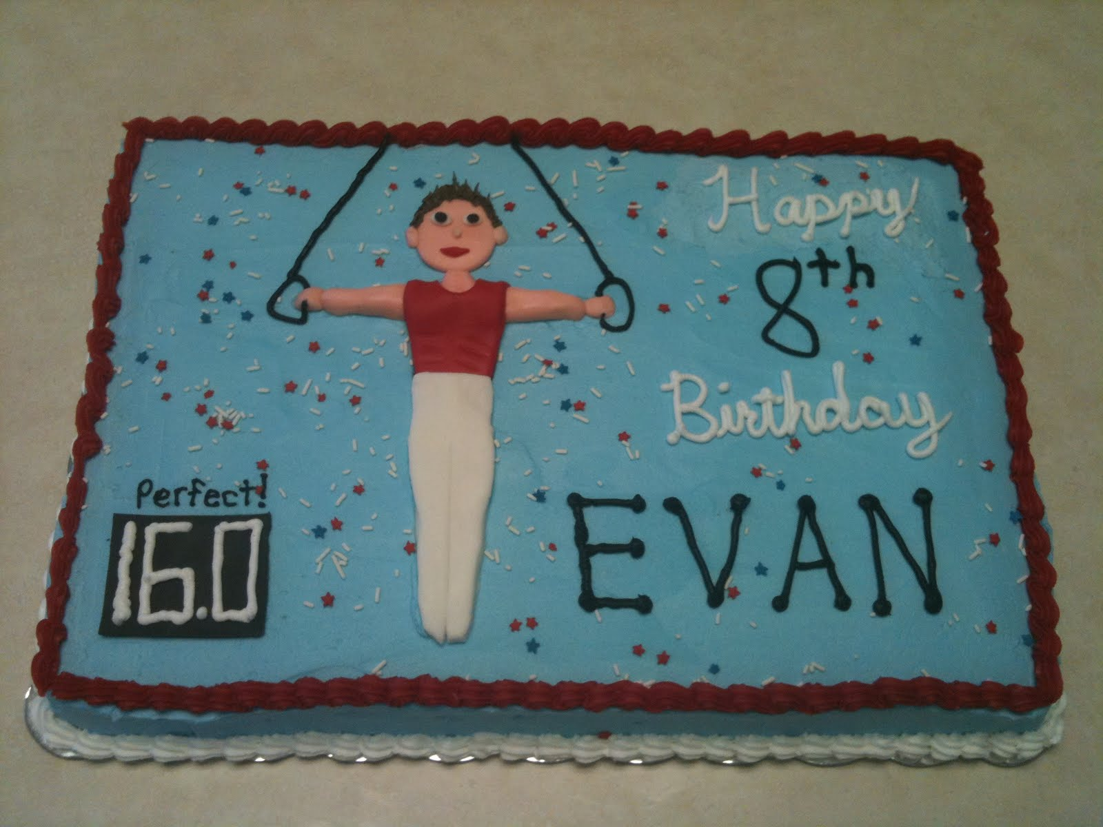 Cakes By Joanna Boys Gymnastics Birthday Cake
