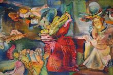 Bienal de arte en el colegio armenio