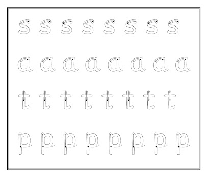 Debbie's Resource Cupboard: satpin letters for letter formation