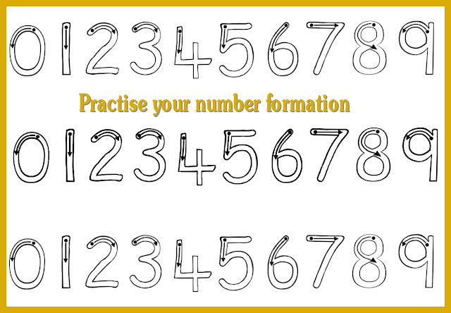 Debbie's Resource Cupboard: Practise number formation