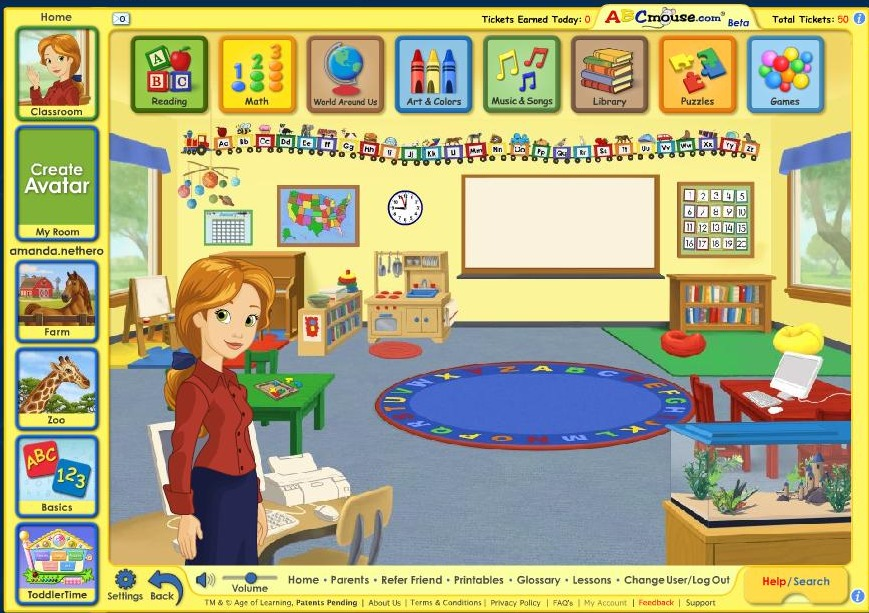 Free 30 day trial at abcmouse com early learning academy a sparkle