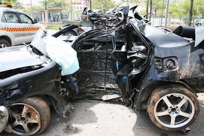 Crashed Toyota Vios 3