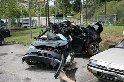 Crashed Toyota Vios