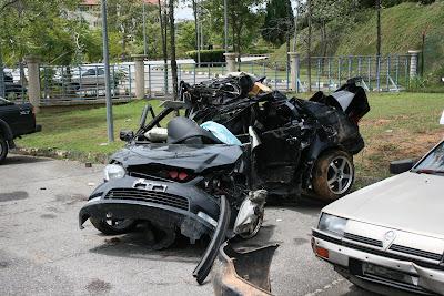 Crashed Toyota Vios