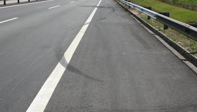 Road Skid Marks