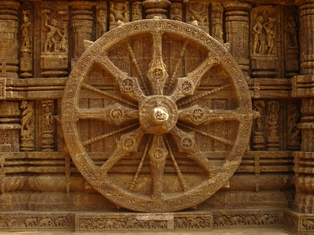 Fabulous Konark Sun Temple Wheel Orissa Odisha stone carvings travel tourism