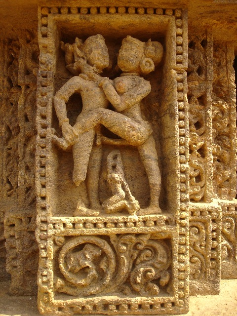 Unique sex erotic art carving konark sun temple