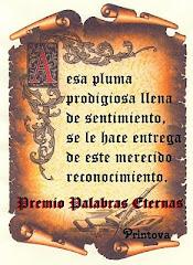"PREMIO ""PALABRAS ETERNAS"""