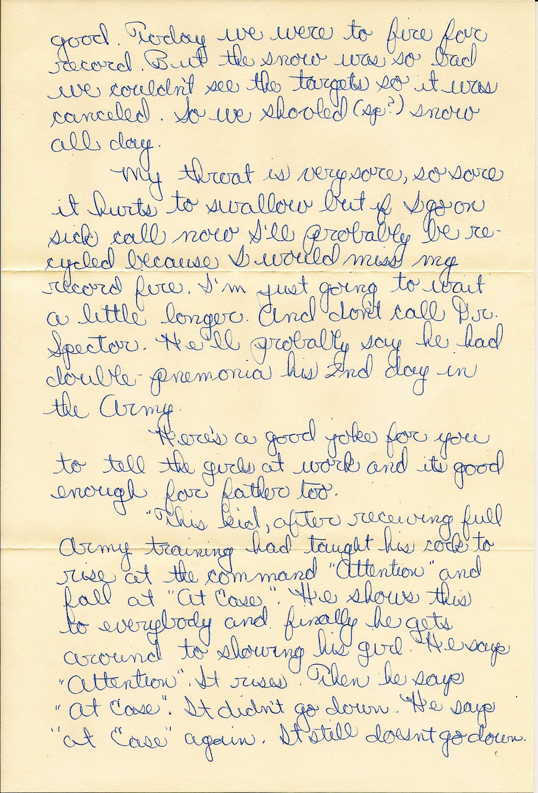 Sample Letters To Soldiers In Basic Training